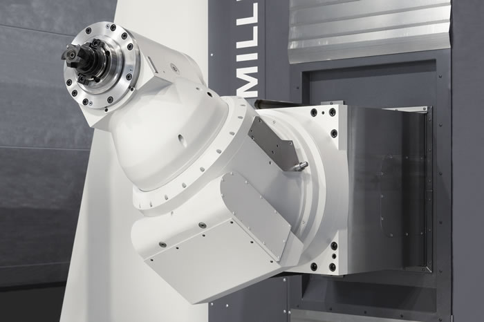 Flexibly applicable universal milling head